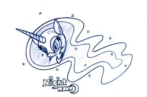 pencil drawing of Nightmare Moon by LordYanYu