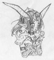Cute Ysera sketch by GaMu-ChAn