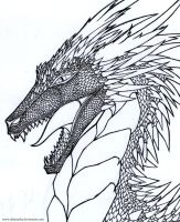 Spiky dragon portait by Dalanatha