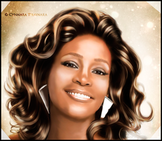 Whitney Houston by Cynnarafly
