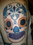 Day Of Th Dead Skull Tattoo by mcnasty6971