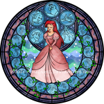 Ariel Stained Glass -remastered- by Akili-Amethyst