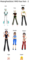 MMD Pose Pack - 2 by MissingPixieSticks