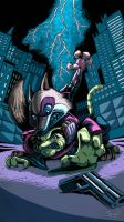 Executing Justice - Blood - By Sendraxmon by Darkflame-wolf