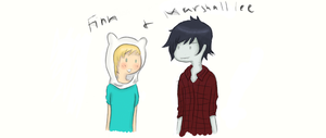 -Adventure Time- Finn and Marshall lee -Colored- by Manhoes-And-Mangoes