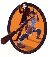 Korra and Asami for Book 3 by RuthlessRedRose