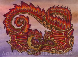 Autumn Spontaneity dragon design by rachaelm5