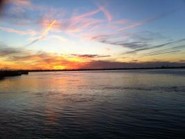 Sunset on the Bay 2 by Aki3b