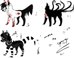 Creepypastas adopts - AUCTION (CLOSED) by SwarThylacine-Adopts