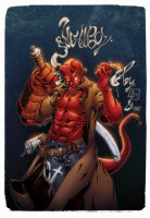 Hellboy COLORED by marvelmania