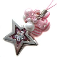 Pink Star Phone Charm by fairy-cakes