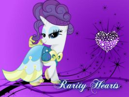 Rarity Hearts~ by slo-momo