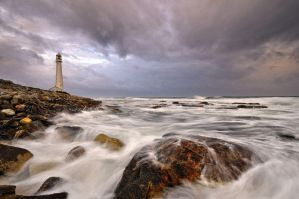 The lighthouse by Naude