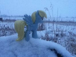Derpy in the Snow (Pic 3) by zacorasfollower