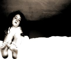 Little Girl on a Bed by makdas
