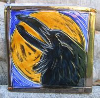 Raven and Moon Tile by Verdego