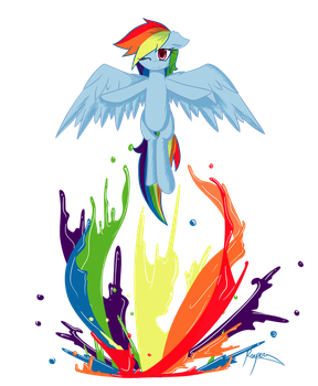 Rainbow Dash: Spectrum by TheYoungReaper