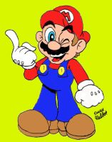 Super Mario Color by Beau-Skunk