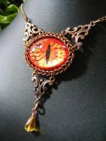 Fire Eye In Copper by BacktoEarthCreations