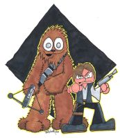 Lil' Han and Chewie commish by 5chmee
