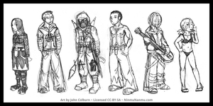 Character Sketch Collection Jan 2012 by JohnColburn