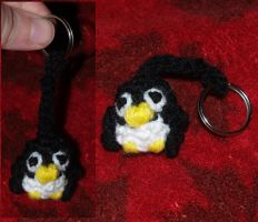 Penguin Amigurumi Key Chain by LilWolfStudios