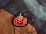 Halloween Necklace Pumpin Hama Beads by kratosisy