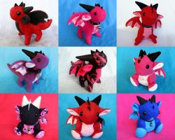 Plushies-For-Sale-End-of-January by DragonsAndBeasties