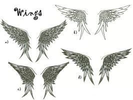 Wing tattoo designs by Meganopolis