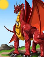 Estme's Dragon Redrawn by SteelFanged
