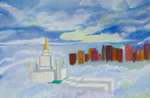 Oakland Temple Abstract by SuziemyPuma