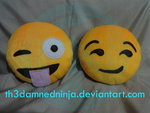 Emoji cushion by Th3DamnedNinja