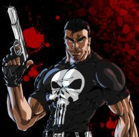 Punisher commission colored by Sakuseii