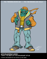 TMNT TBOTS Mikey 2109 Color by theblindalley