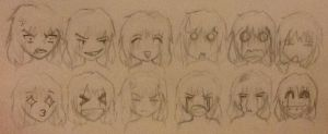 Chibi emotions reference sheet (12) by TheSilentArtist2225