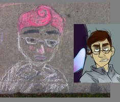 My friend attempted to draw him e.e by PaintHerDream