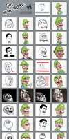The many faces of Luigi by MushroomWorldDrawer