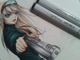 Battle Girl 2 part - copic coloring by Yuuki-Tachi