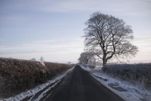 Winter roads by paradoxofminds