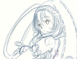 .:DAL:. Yoshino sketch by Papillon-papalotl