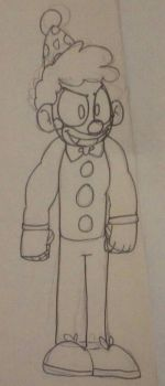 Mario The Humanoid Clown by francy-is-the-best