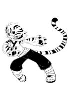 tigress in action by GumandPeanuts17