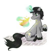 Oreo Fluff OC pony Commission by Kna