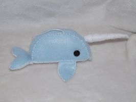 Narwhal Ornament by Mishaila
