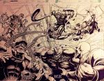 SPIDEY vs SINISTER SIX by grandizer05