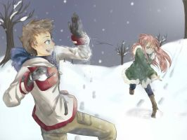 Snowball Fight! by Limitless-Skye