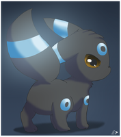 Shiny Umbreon Chibi by pichu90