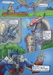 TF4 Comix - Dinobots in my city by MaryDec