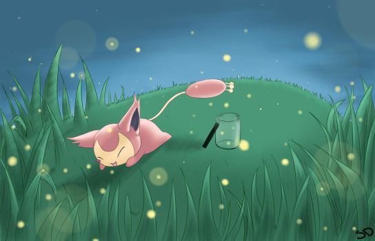 Catching Fireflies by silverdemon456