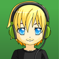 Pewdiepie (with headphones) by puppyland25